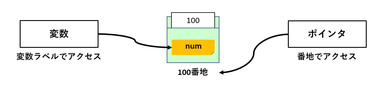 変数とポインタのメモリアクセスの違い