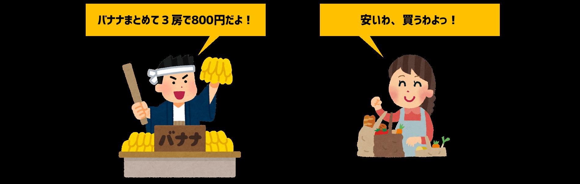 バナナ800円