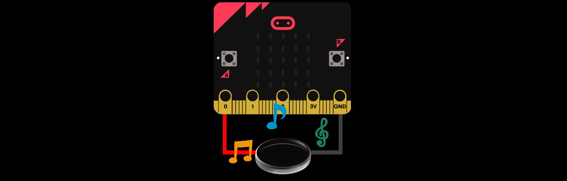 micro:biにつなげるスピーカー