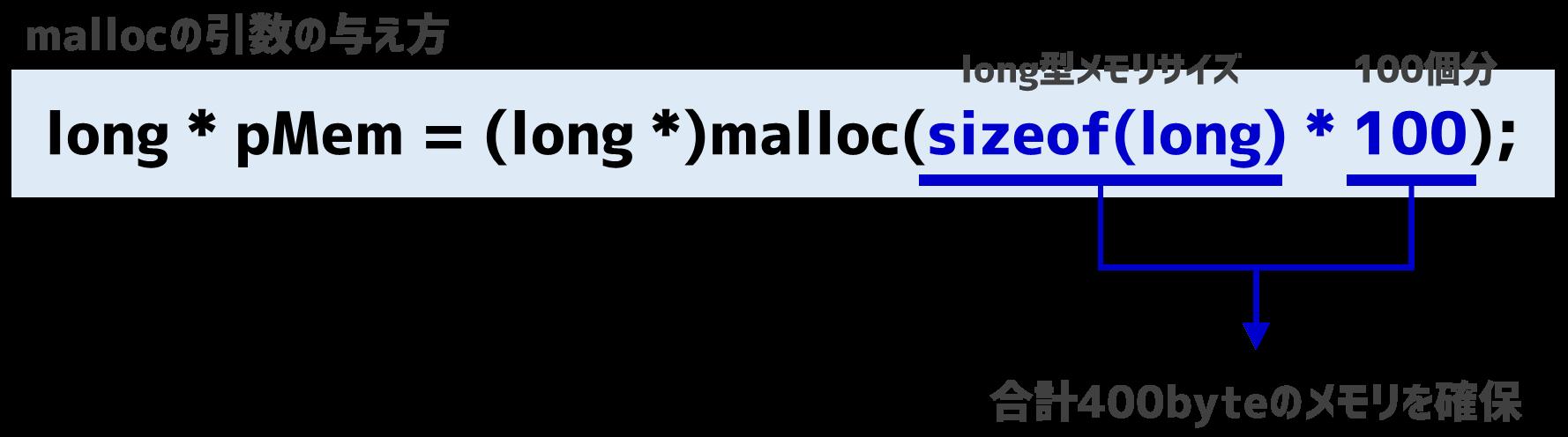 mallocの引数の与え方